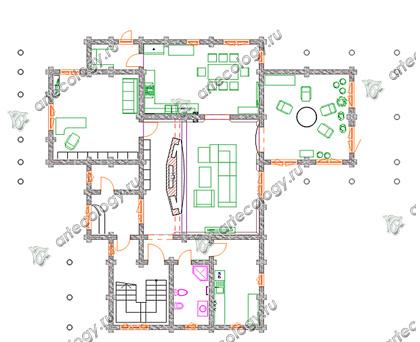 И утеплить перекрытие между первым и вторым этажами.  Утепление сделать по... дома на склоне.